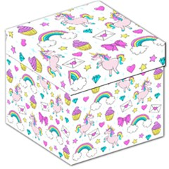 Cute Unicorn Pattern Storage Stool 12   by Valentinaart