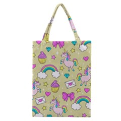Cute Unicorn Pattern Classic Tote Bag by Valentinaart
