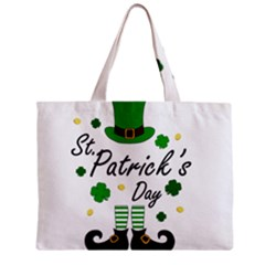 St Patricks Leprechaun Zipper Mini Tote Bag by Valentinaart