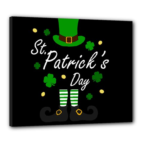 St Patricks Leprechaun Canvas 24  X 20