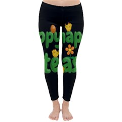 Happy Easter Classic Winter Leggings