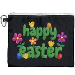 Happy Easter Canvas Cosmetic Bag (xxxl) by Valentinaart