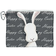 Easter Bunny  Canvas Cosmetic Bag (xxl) by Valentinaart