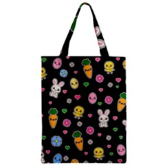 Easter Kawaii Pattern Zipper Classic Tote Bag by Valentinaart
