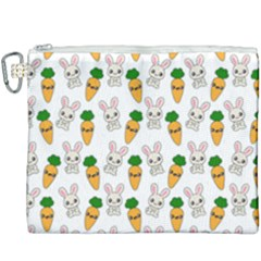 Easter Kawaii Pattern Canvas Cosmetic Bag (xxxl) by Valentinaart