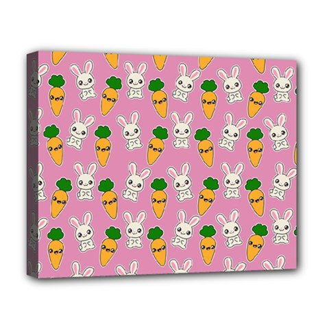Easter Kawaii Pattern Deluxe Canvas 20  X 16