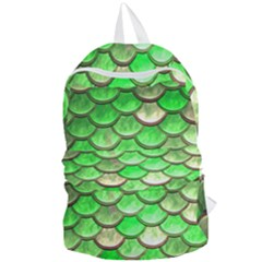 Green Mermaid Scale Foldable Lightweight Backpack by snowwhitegirl