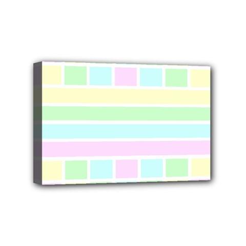 Geometric Pastel Design Baby Pale Mini Canvas 6  X 4