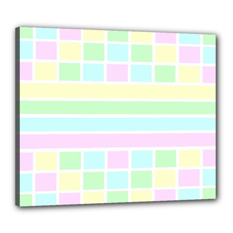 Geometric Pastel Design Baby Pale Canvas 24  X 20