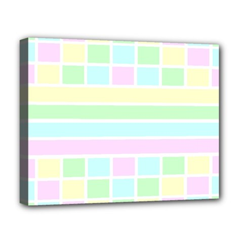 Geometric Pastel Design Baby Pale Deluxe Canvas 20  X 16