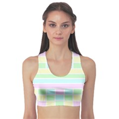 Geometric Pastel Design Baby Pale Sports Bra