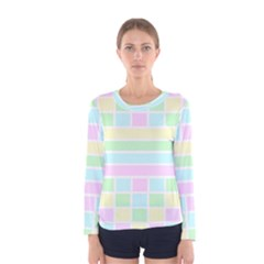 Geometric Pastel Design Baby Pale Women s Long Sleeve Tee