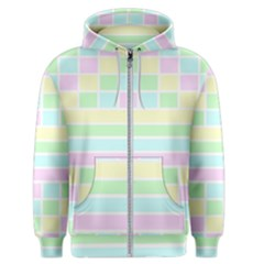 Geometric Pastel Design Baby Pale Men s Zipper Hoodie