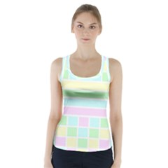 Geometric Pastel Design Baby Pale Racer Back Sports Top