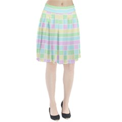 Geometric Pastel Design Baby Pale Pleated Skirt