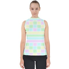 Geometric Pastel Design Baby Pale Shell Top