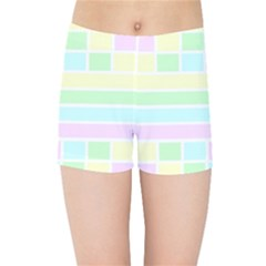 Geometric Pastel Design Baby Pale Kids Sports Shorts