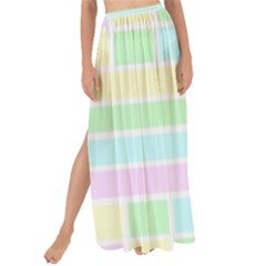 Geometric Pastel Design Baby Pale Maxi Chiffon Tie Up Sarong