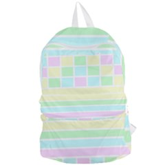 Geometric Pastel Design Baby Pale Foldable Lightweight Backpack by Nexatart