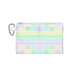 Geometric Pastel Design Baby Pale Canvas Cosmetic Bag (small)