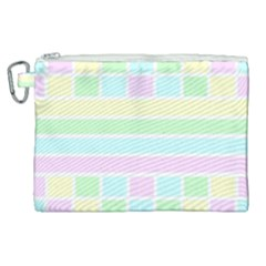 Geometric Pastel Design Baby Pale Canvas Cosmetic Bag (xl) by Nexatart
