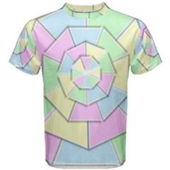 Color Wheel 3d Pastels Pale Pink Men s Cotton Tee