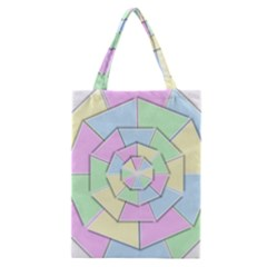 Color Wheel 3d Pastels Pale Pink Classic Tote Bag by Nexatart