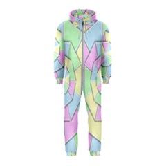 Color Wheel 3d Pastels Pale Pink Hooded Jumpsuit (kids)