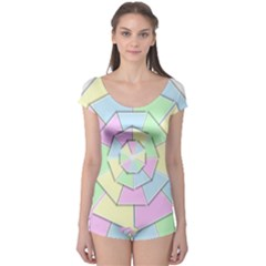 Color Wheel 3d Pastels Pale Pink Boyleg Leotard