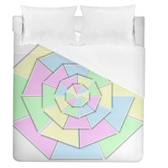 Color Wheel 3d Pastels Pale Pink Duvet Cover (queen Size)