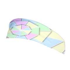 Color Wheel 3d Pastels Pale Pink Stretchable Headband