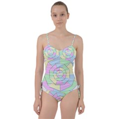 Color Wheel 3d Pastels Pale Pink Sweetheart Tankini Set