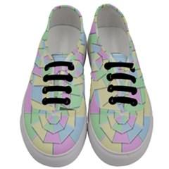 Color Wheel 3d Pastels Pale Pink Men s Classic Low Top Sneakers