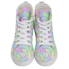 Color Wheel 3d Pastels Pale Pink Women s Hi Top Skate Sneakers