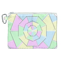 Color Wheel 3d Pastels Pale Pink Canvas Cosmetic Bag (xl) by Nexatart