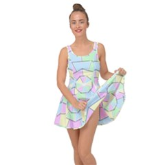 Color Wheel 3d Pastels Pale Pink Inside Out Dress