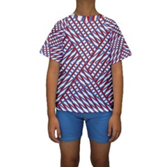 Abstract Chaos Confusion Kids  Short Sleeve Swimwear