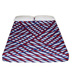 Abstract Chaos Confusion Fitted Sheet (california King Size)