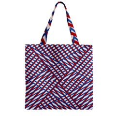 Abstract Chaos Confusion Zipper Grocery Tote Bag