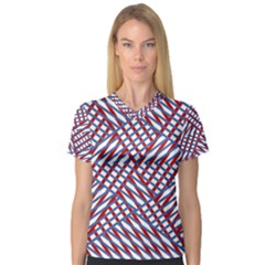Abstract Chaos Confusion V Neck Sport Mesh Tee