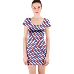Abstract Chaos Confusion Short Sleeve Bodycon Dress