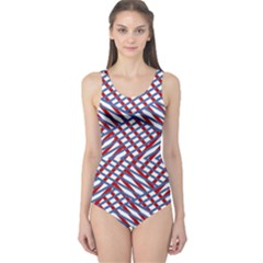 Abstract Chaos Confusion One Piece Swimsuit