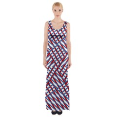 Abstract Chaos Confusion Maxi Thigh Split Dress