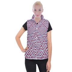 Abstract Chaos Confusion Women s Button Up Vest