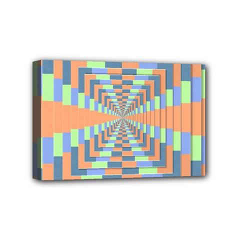 Fabric 3d Color Blocking Depth Mini Canvas 6  X 4