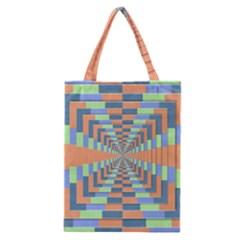 Fabric 3d Color Blocking Depth Classic Tote Bag
