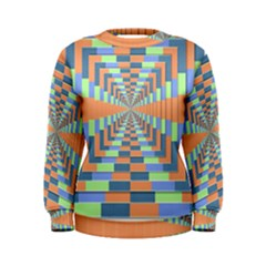 Fabric 3d Color Blocking Depth Women s Sweatshirt