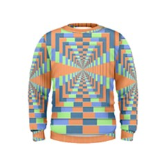 Fabric 3d Color Blocking Depth Kids  Sweatshirt