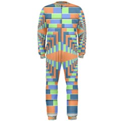Fabric 3d Color Blocking Depth Onepiece Jumpsuit (men)