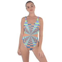Fabric 3d Color Blocking Depth Bring Sexy Back Swimsuit